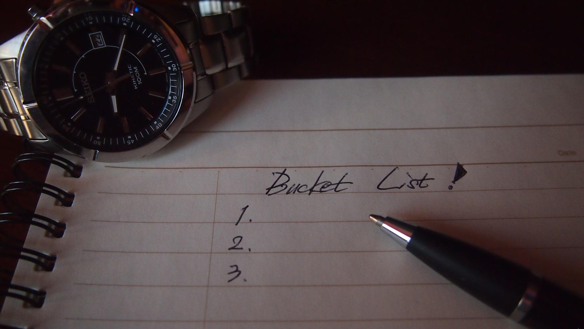 バケットリストが思いつかないときに知っておきたいやりたいことの考え方